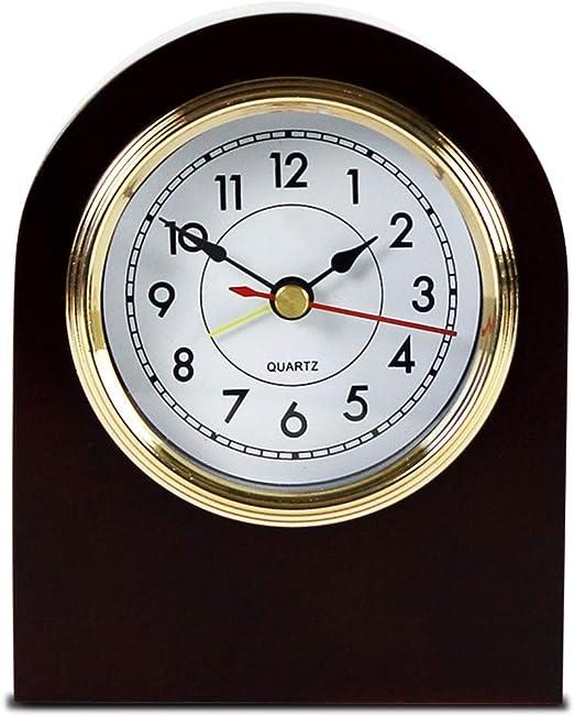 Amazon Com Desk Clock Table Clock For Living Room Decor Bedrooms Bathroom Vintage Small Battery Operated Analog European Alarm Clock Non Ticking Silent Retro Decorative Wood Home Kitchen