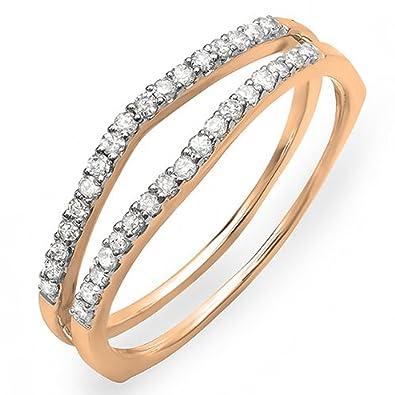 Amazon 0 25 Carat ctw 10K Yellow Gold White Diamond