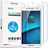 Motorola Droid Maxx 2 / Moto X Play Screen Protector, [2-Pack] OMOTON Tempered Glass for Motorola Droid Maxx 2 / Moto X Play with [9H Hard] [Crystal Clear] [Scratch Resist] [Bubble Free]