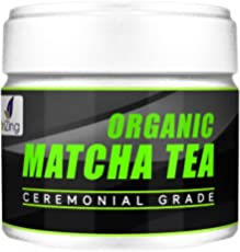NutriZing's 100% Organic, Natural & Vegan Matcha Tea ~ Finest Quality Ceremonial Grade from Japan ~ Authentic Japanese Green Tea Powder ~ Powerful Antioxidant ~ Best to Boost Metabolism & Energy ~ FREE Bonus Recipe Book