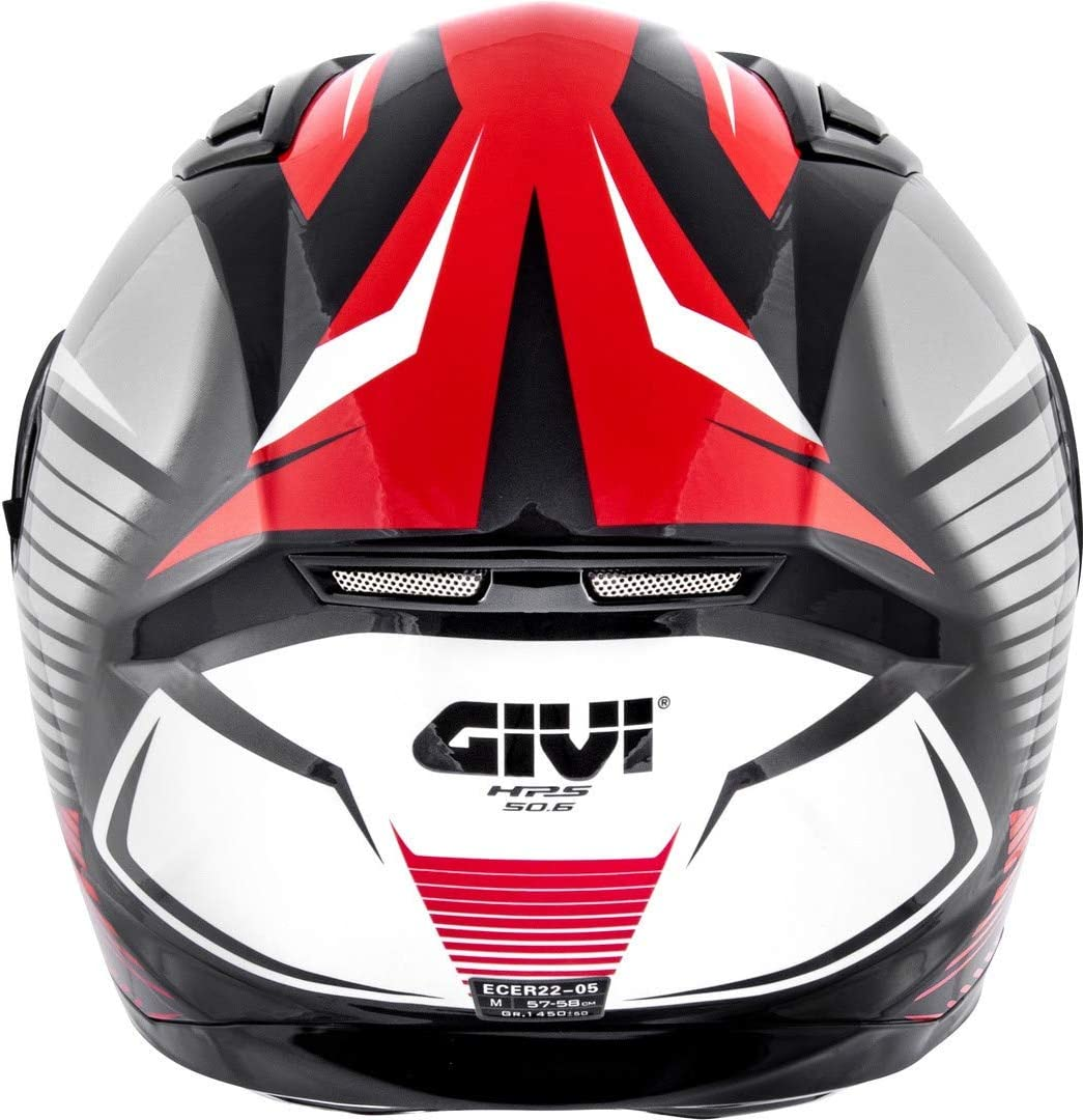 H506FGDBR56 Givi Hps 50.6 Stoccarda Full Face Helmet Graphics Glade Painted Black//Red Size 56//S
