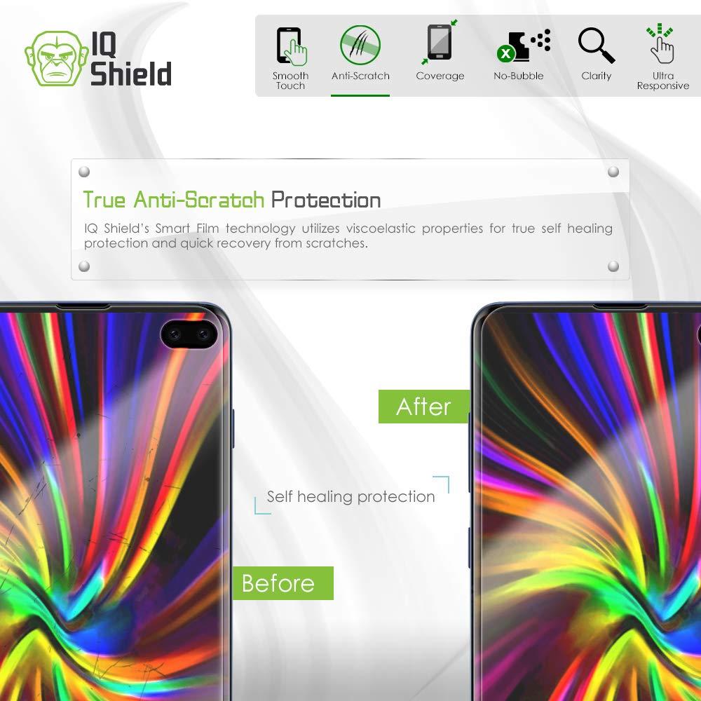 Samsung Galaxy S10 Plus Screen Protector (S10+ 6.4'')[Case Friendly](2-Packs)(Compatible w/Fingerprint ID), IQ Shield LiQuidSkin Full Coverage Screen Protector for Samsung Galaxy S10 Plus HD Clear Film by IQShield (Image #4)