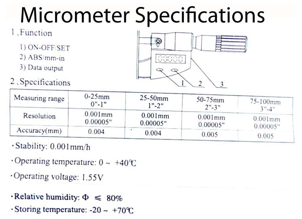 TM5320 HAWK CALIPER /& MICROMETER