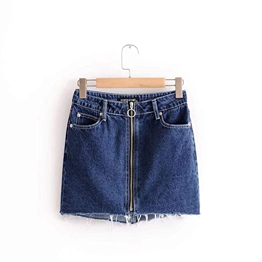 Deawecall Falda de Cintura Alta para Mujer Falda Corta A-Line ...