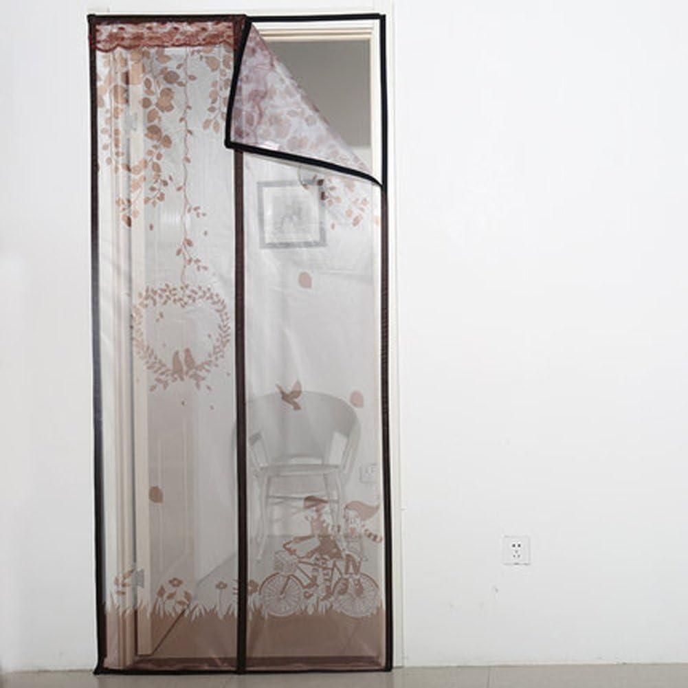 J&DSSSU Puerta de Pantalla magnética para Puerta con Cortina de Malla Resistente Puerta para Puertas correderas Super silencioso Resistente y Duradero Auto Cierre-A 100x210cm(39x83inch): Amazon.es: Hogar