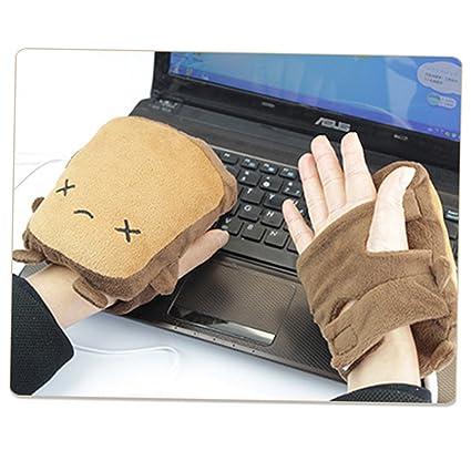 925b2d15f vanki USB Gloves New Laptop Women's USB Heated Half Winter Warm Hand Gloves  Warmer Wool Little