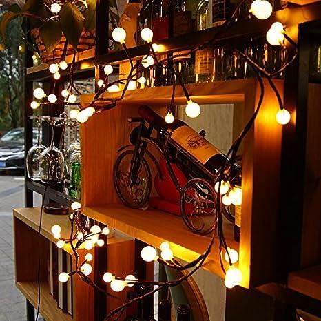 Rywell Globe String Lights   LED String Lights Indoor Outdoor String Lights  Patio String Of Lights