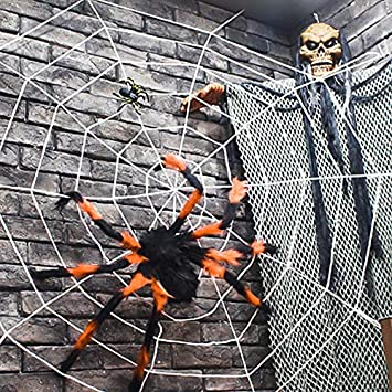 Outdoor Halloween Decorations Scary Spider With Spider Web Best For Halloween Party Decorations Party Favors