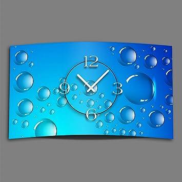 DIXTIME Digital – Tipo Bubbles – Reloj de Pared Moderno Relojes de Pared Diseño Silencioso sin