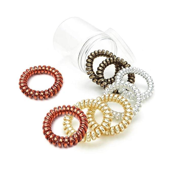 4 X Thick Spiral Plastic Large Hair Band Hairband Bobble Waterproof Metallic New
