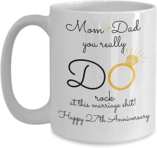 Amazon Com 27th Wedding Anniversary Gift For Parents Mom And