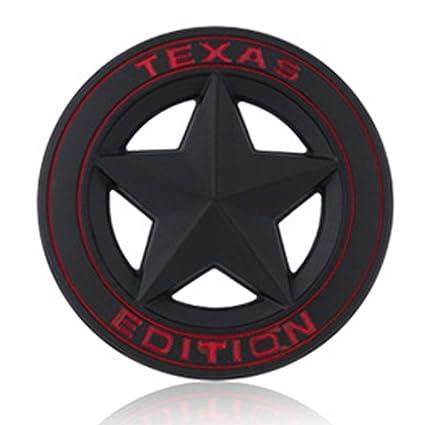 Superior TEXAS EDITION Star Car Emblem Badge Diameter 3u0026quot; 3D Metal For BMW  Mustang Ranger Volvo