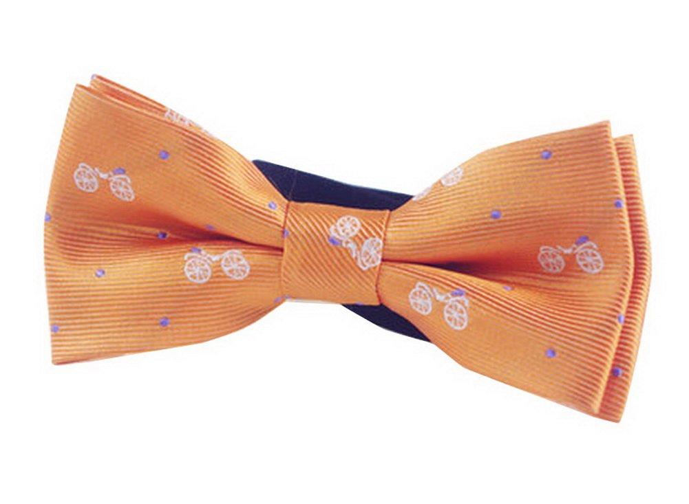 Papillon Bowtie da ragazzo con collo regolabile moda [Arancione] Black Temptation