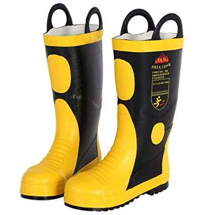 4f76e70ae59 KKmoon Rubber Boots for Fire; Portable Fire Fighting Boots ...