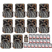 Ten Browning Spec Ops Advantage 20MP Trail/Game Cameras with Color Display + 20 16GB Cards + Focus USB Reader