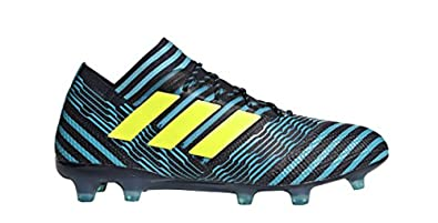 best service f12c3 d7c72 adidas Nemeziz 17.1 FG Cleat - Men s Soccer 6.5 Legend Ink Solar Yellow Blue