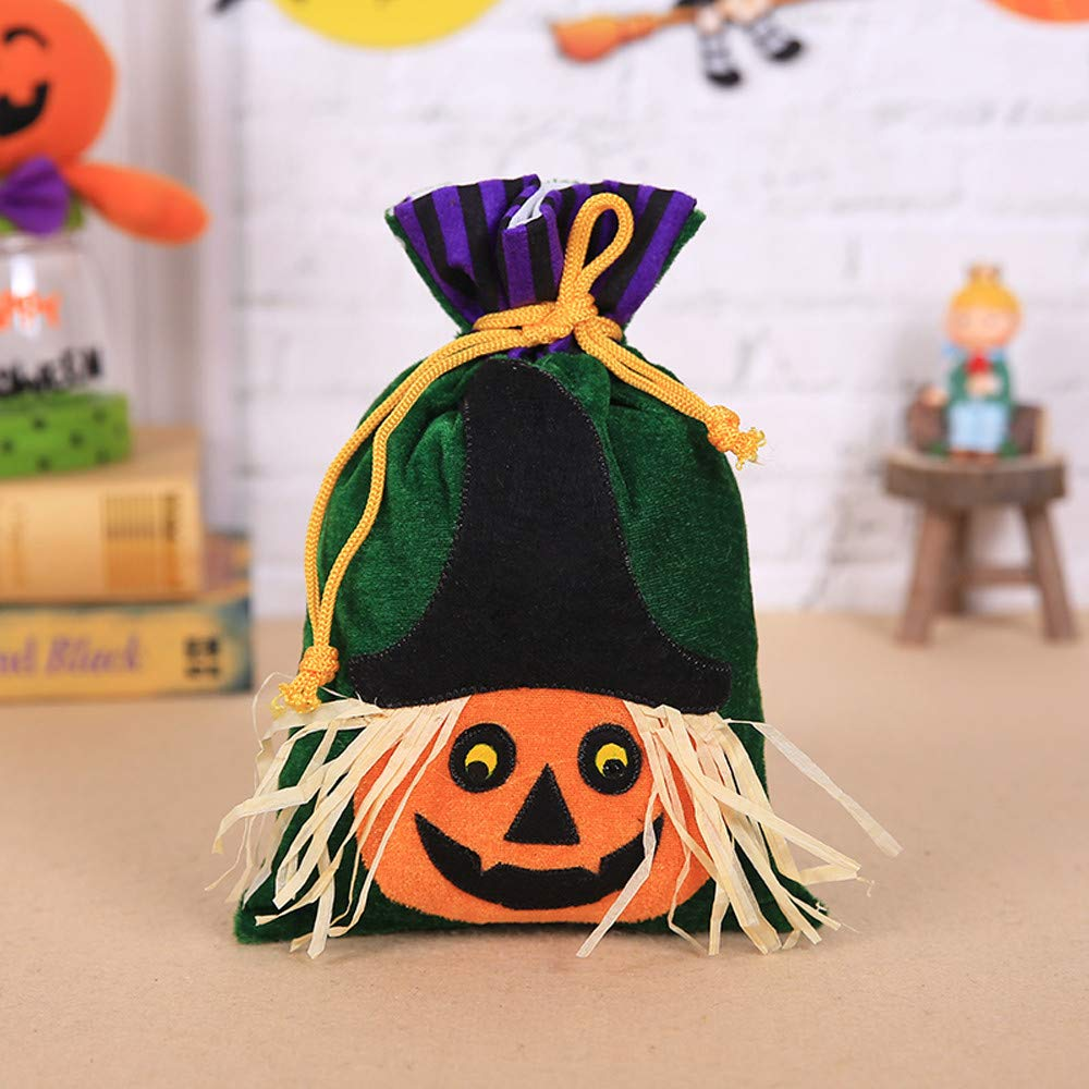 285190ab7ab Amazon.com  Halloween Trick or Treat Bags - Reusable Candy Totes Party  Favor Bags - Halloween Gift Candy Bags Amusing Bags Tote Bags for Kids  Festival Party ...