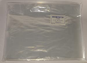 """Uline 100-9 x 12"""" Poly Clear Plastic T-Shirt/Apparel Bags 1 Mil 2"""" Back Flap Lock (3 Pack)"""