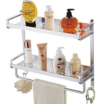 Amazon.com: Estante rectangular de aluminio anodizado para ...
