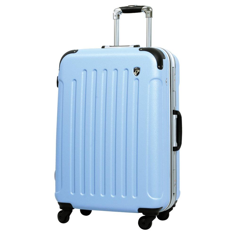 [グリフィンランド]_Griffinland TSAロック搭載 スーツケース 軽量 アルミフレーム エンボス加工 newTSA1037-1 フレーム開閉式 B071GKZV61 LM型|ベビーブルー ベビーブルー LM型
