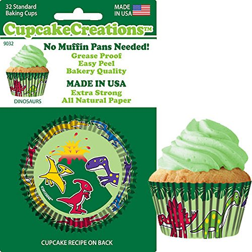 Cupcake Creations, No Muffin Pan Required Baking Cups, Dinosaurs, 9032 (Dinosaur Cupcake Pan compare prices)