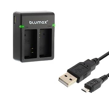 Blumax - Cargador dual para Qumox SJ4000 SJ5000 Sj6000 ...