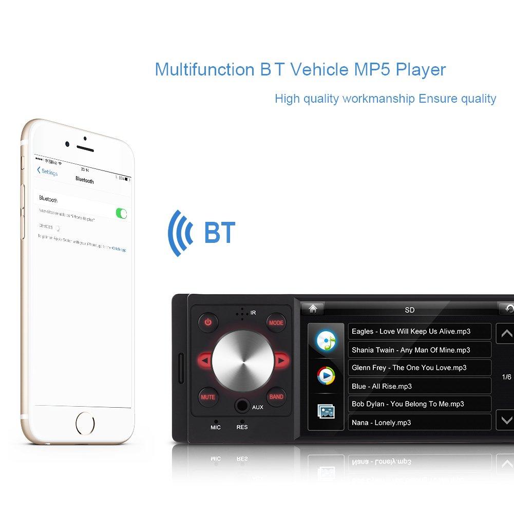 Amazon.com: 4inch HD Digital Screen Car Radio MP5 Player FM AM AUX ...