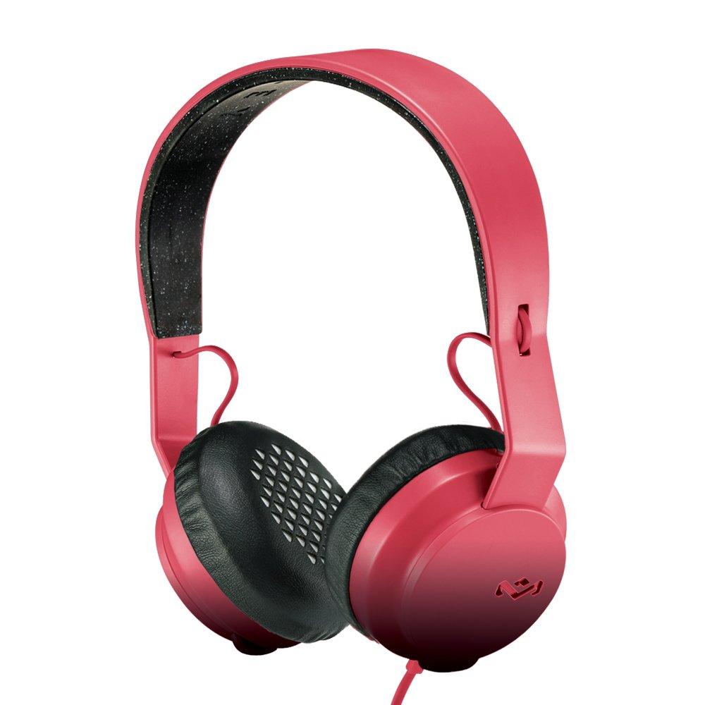 House of Marley EM-JH081-RD Rebel On Ear Headphones - RED