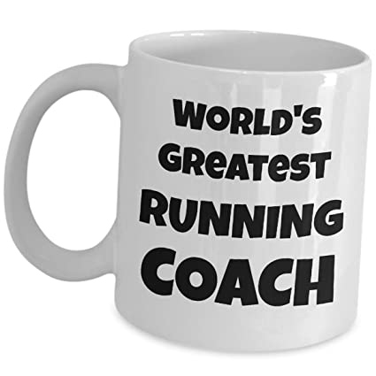 Worlds Greatest Running Coach Coffee Mug Gifts - Ceramic Tea Cup - For Sport Coaches Player