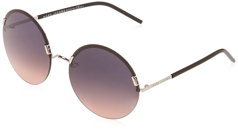 da43eef78 Amazon.com: Marc Jacobs Women's Marc54s Round Sunglasses, Palladium Black,  62 mm: Clothing
