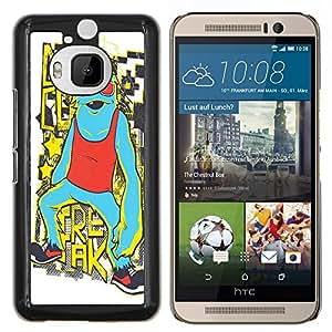 Dragon Case - FOR HTC One M9+ / M9 PLUS - Be cool no crime - Caja protectora de pl??stico duro de la cubierta Dise?¡Ào Slim Fit