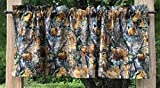 Handcrafted Curtain Valance Sewn From Realtree Bear Deer Turkey Elk Fish Fabric For Sale