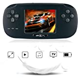 Handheld Game Console,Rongyuxuan Portable Handheld Game Players Gaming Consoles Built In 168 Classic Games for Kids Best Gift Video Game