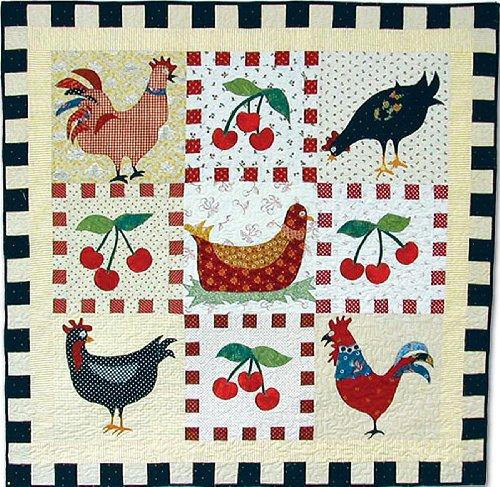 American Jane Patterns Chicken Cherries and Checks - Patterns American Quilt Jane