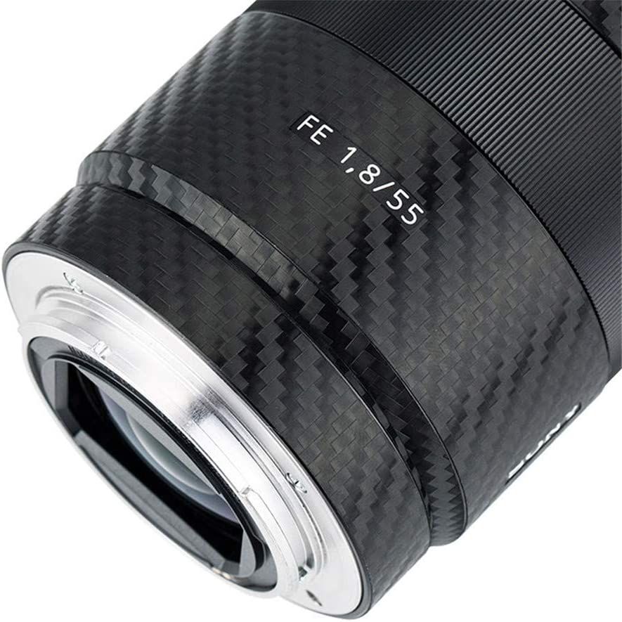 Anti-Scratch Lens and Lens Hood Cover Skin Sticker Protector Film for Sony FE 55mm F1.8 ZA SEL55F18Z Lens /& ALC-SH131 Lens Hood Skin Guard Shield Shadow Black Camouflage Pattern