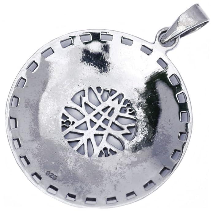 Solid Sterling Silver Elven Fairy Star Septagram Zodiac Astrology Pendant (P084) z7Kg3jxggA