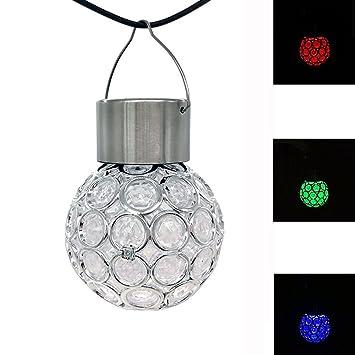 Amazon.com: Solar para Colgar bola de luces, decoraciones al ...