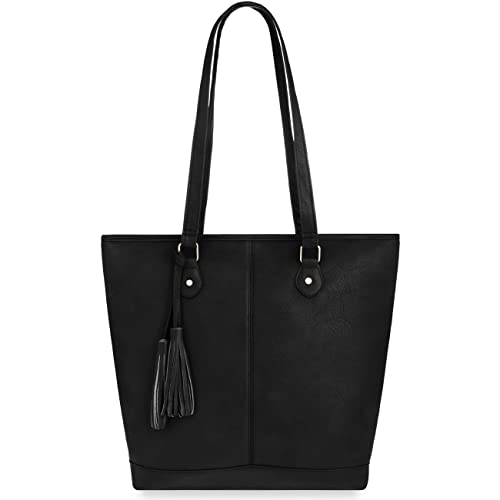 Shopper Bag Damenhandtasche Einkaufstasche mit Fransen schwarz