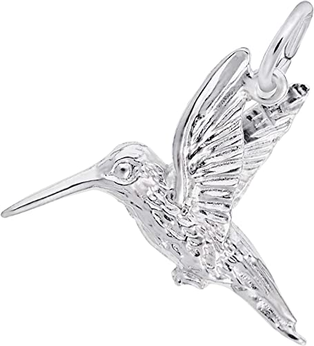 hummingbird charm mother/'s day Large hummingbird earrings in sterling silver bird earrings silver hummingbird silver bird charms
