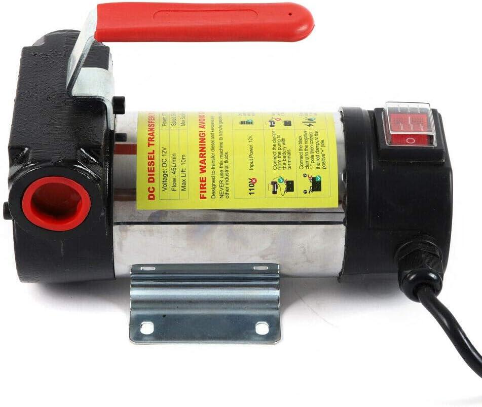 175W Dieselpumpe Heiz/ölpumpe /Ölabsaugpumpe mit Schlauch Automatische Pistole 50L//min 12V