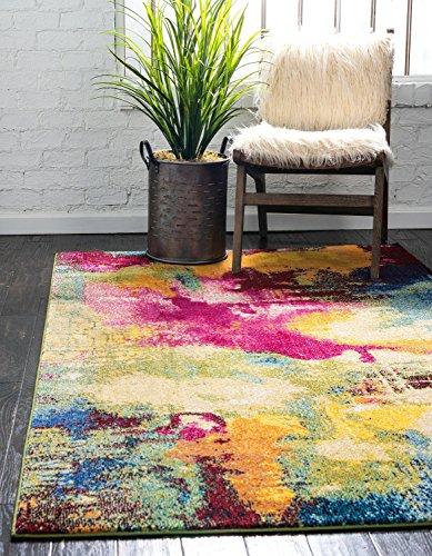 Unique Loom 3122182 Estrella Collection Colorful Abstract Multi Area Rug 5