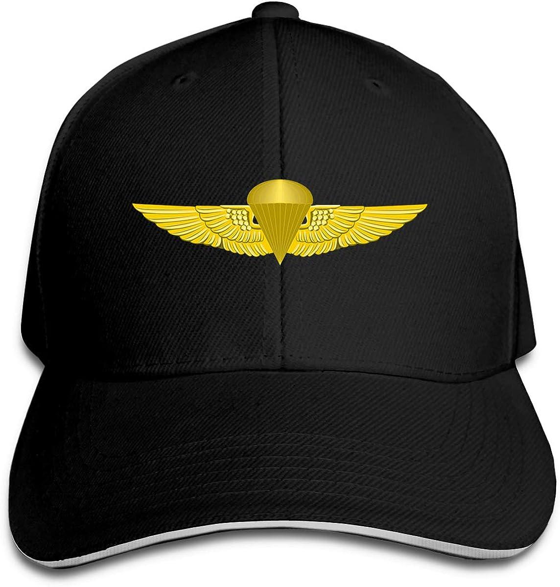 Marine Corps Jump Wings Unisex Adult Baseball Caps Adjustable Sandwich Caps Jeans Caps Adjustable Denim Trucker Cap