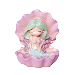 Sunormi Purple Mermaid With Shell Cake Toppers Cake Decoration Home Table Car Decorations Kids Mermaid Lovers Gifts