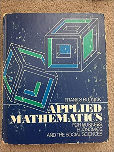 Applied Mathematics By Frank S Budnick 4th Edition Pdf