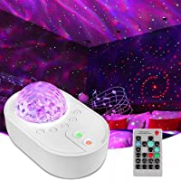 Spaceship Star Projector Night Light ,Ocean Wave Sky Galaxy Lamp Led Lights for Bedroom with Bluetooth Music Speaker…