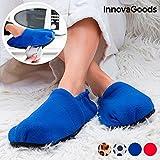 InnovaGoods IG114437 - Zapatillas de casa calentables en microondas, color azul