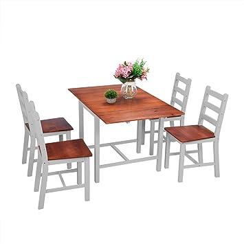 Keinode Table de Salle à Manger et 2 chaises en Bois de pin ...
