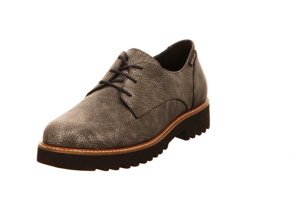 Mephisto Sabatina - Zapatos de cordones de cuero repujado para mujer 41.5 EU|Gris