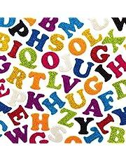 Baker Ross AX360 Glittervilt Zelfklevende Letters - Pak Van 500, Voordeelpakket, Perfect Voor Kinderen Voor Thuiswerk, Klasactiviteiten En Knutselgroepsprojecten