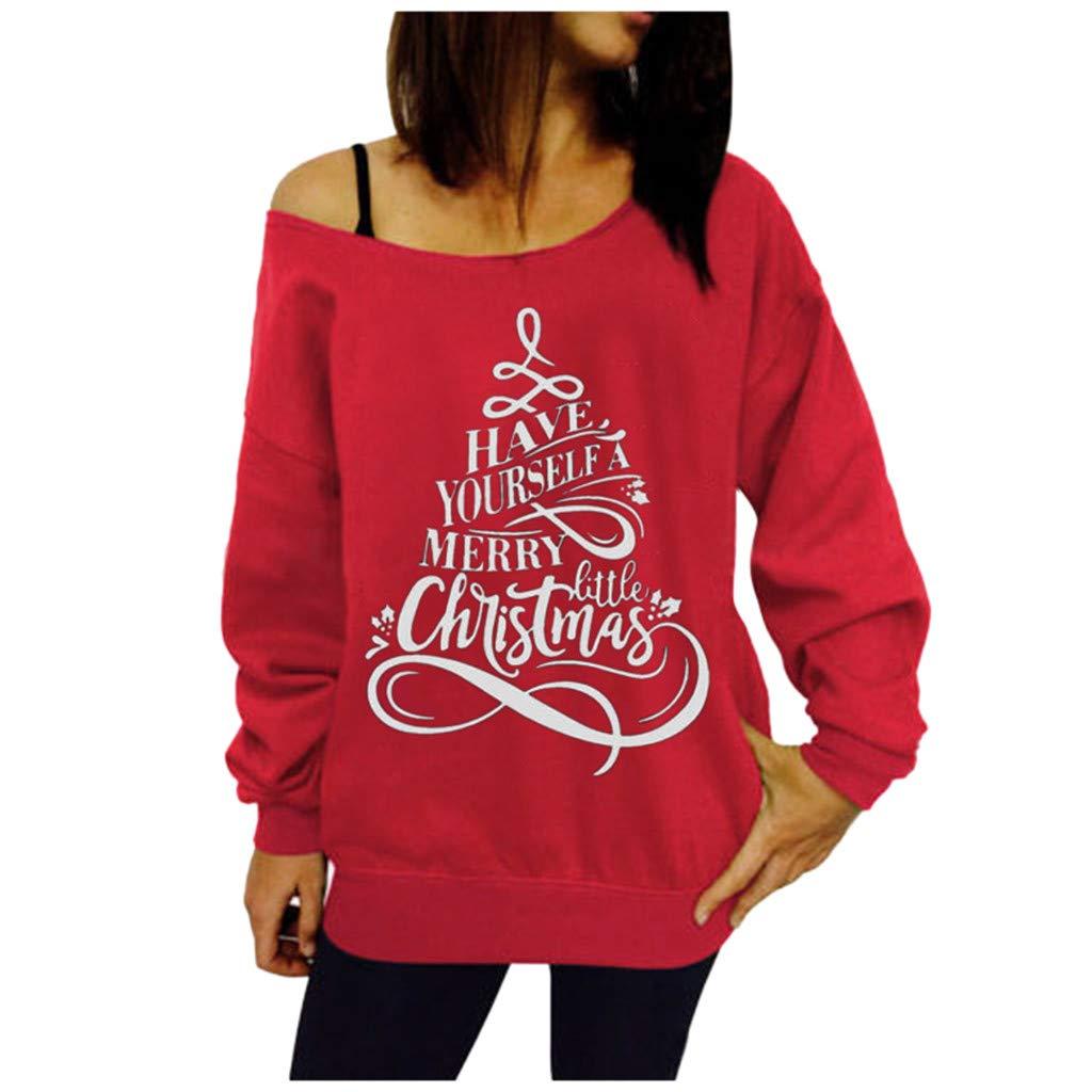 Holzkary Women Fashion Off Shoulder Sweatshirt Slouchy Shirt Long Sleeve Pullover Tops